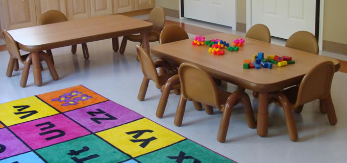 The toddler room and First Class CDC